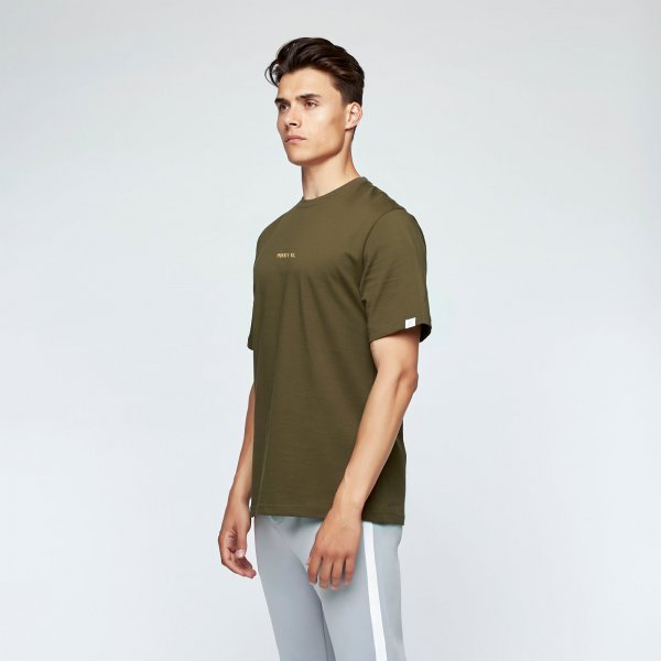 Brush tee back | army green