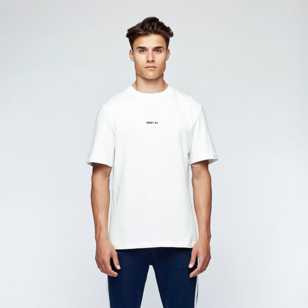 Brush tee back | white fire