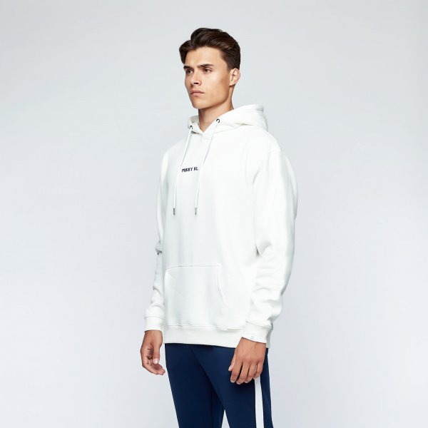 Brush hoodie back | white fire