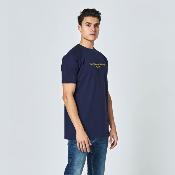 Quote tee navy blue | regular fit