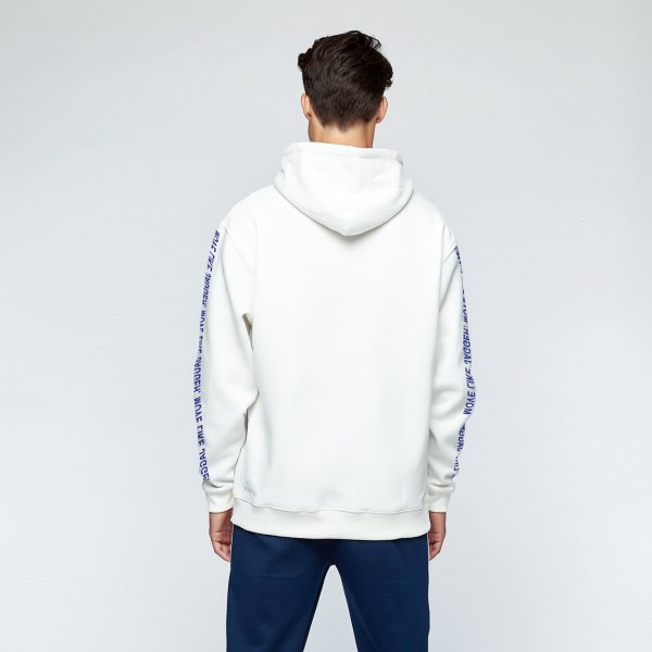 Jagger hoodie quote | white